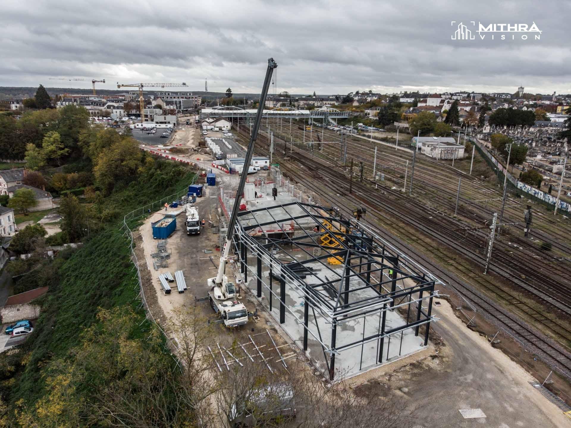 Construction du bâtiment d'exploitation de la gare SNCF de Blois par GTM