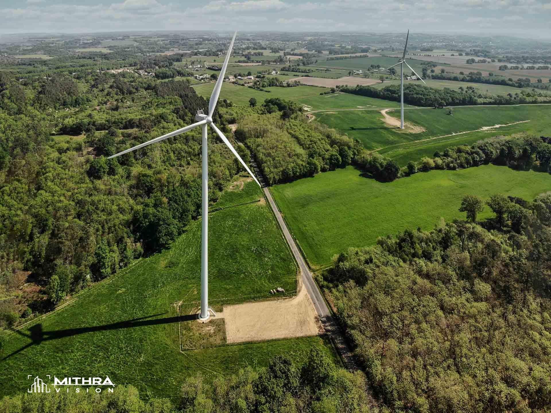 Inspection aérienne d'éoliennes ENGIE