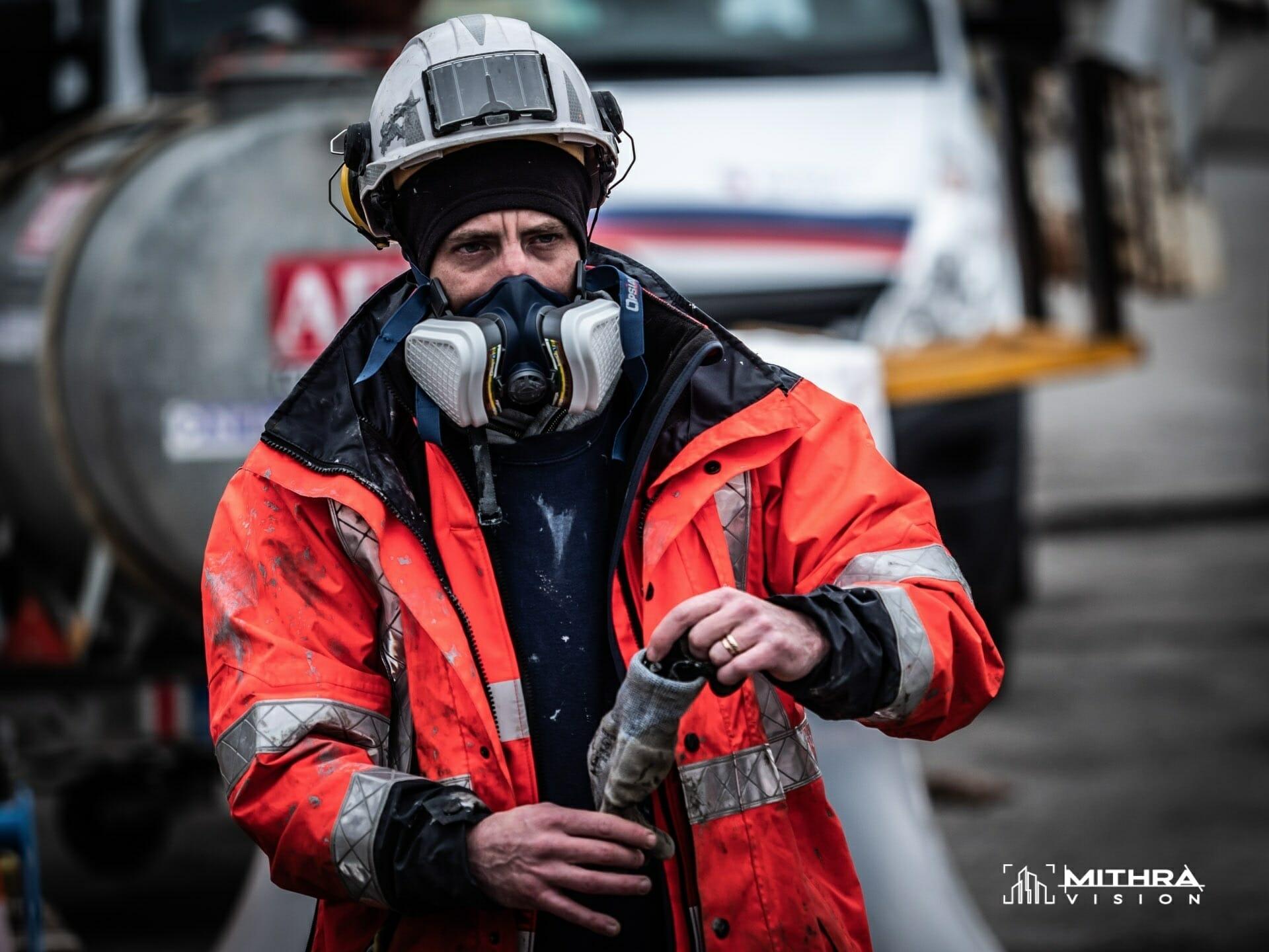 Portrait d'un compagnon sur un chantier Vinci Autoroutes